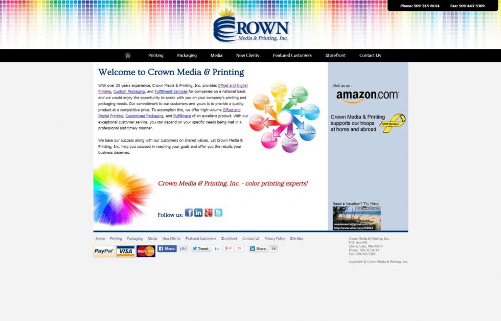 Portfolio: Crown Media & Printing